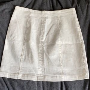 altar'd state white mini skirt